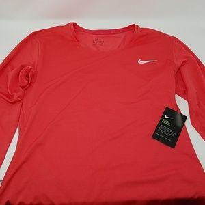 *Nike Womens Nike PRO Dri-Fit Long Sleeve Pink XL